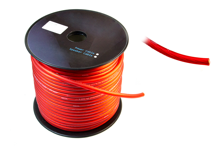 Battery / Power Cable 8 AWG 50M - Red