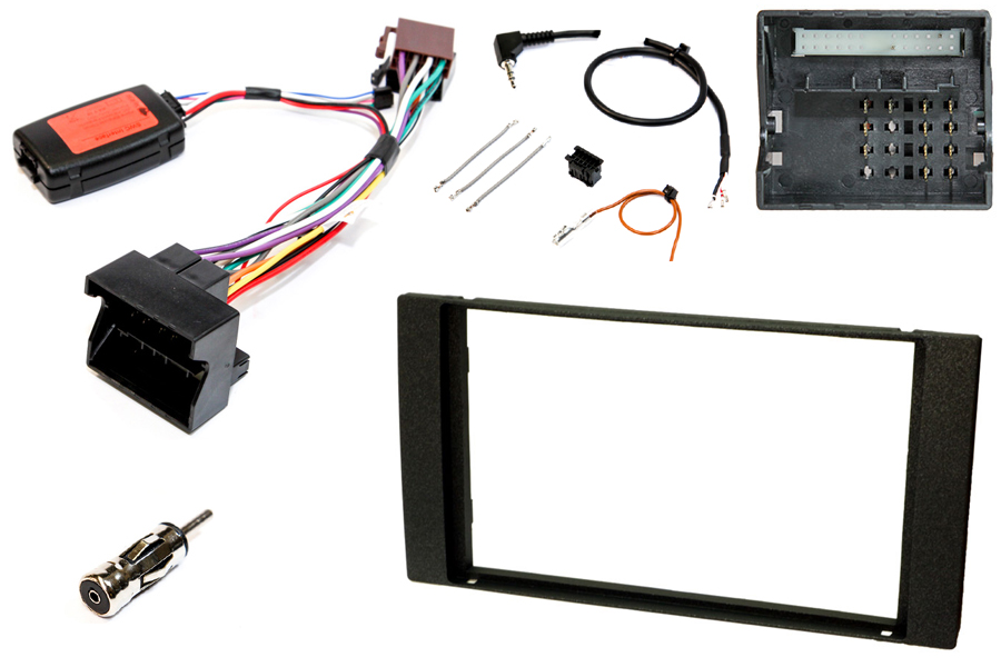Ford double DIN fitting kit (For cars WITH steering wheel controls) BLACK