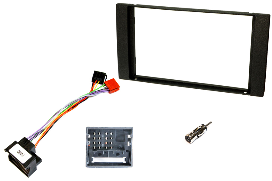 Ford double DIN fitting kit (For cars WITHOUT steering wheel controls) BLACK