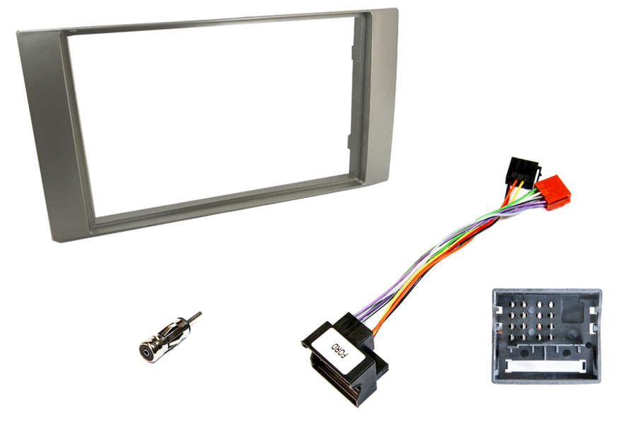 Ford double DIN fitting kit (For cars WITHOUT steering wheel controls) SILVER