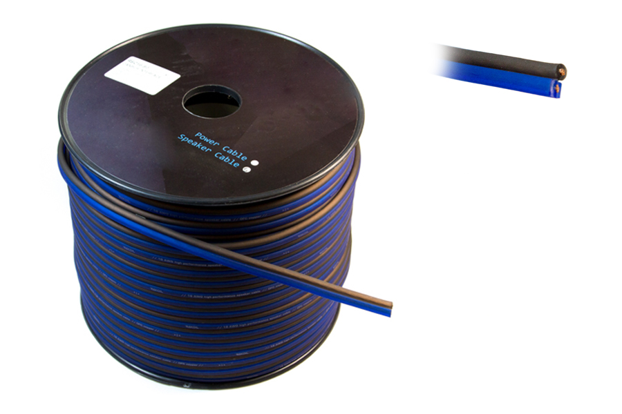 OFC Speaker Cable 18 AWG (100M) BLUE/BLACK