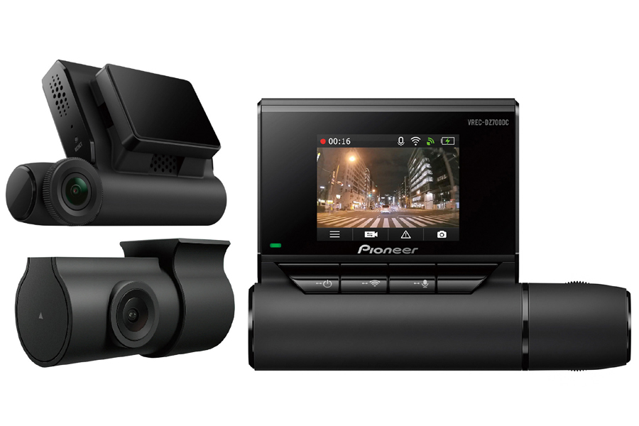 Pioneer VREC-DZ700DC Front and Rear FULL HD Dashcam video recorder