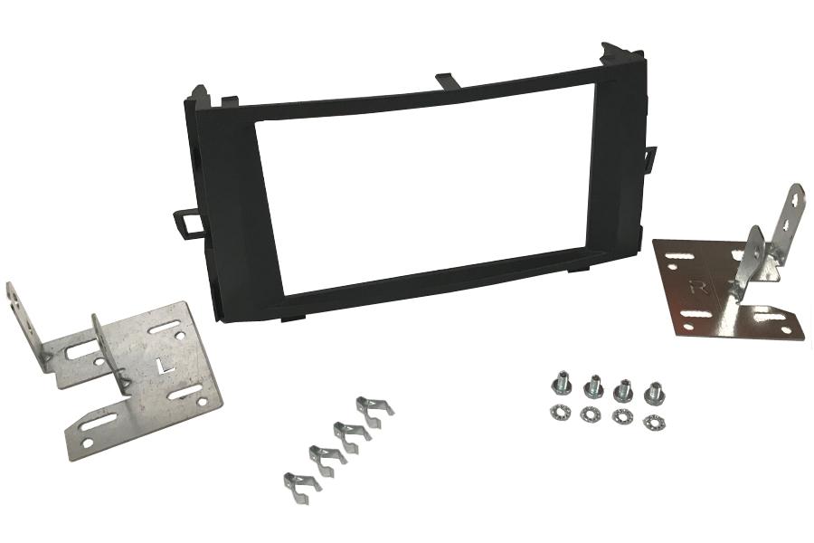 Toyota Verso (09-11) double DIN radio fascia adapter panel (MATT BLACK)