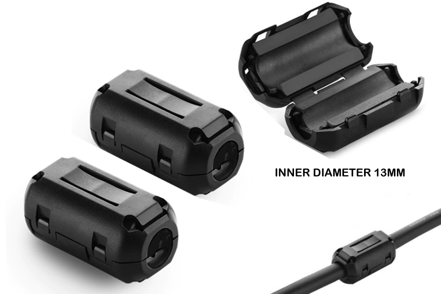 13mm Ferrite Clamp/Noise Filter Cable Choke (PAIR)