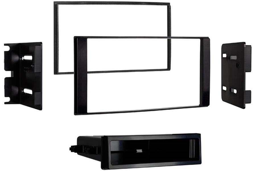 Nissan NV200 (2013 Onwards) Single/ Double DIN car radio fascia adapter panel (MATT BLACK)