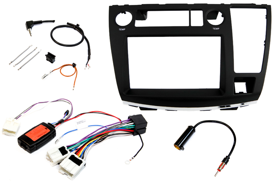 Nissan Elgrand E51 (BASIC AUDIO) Double DIN car stereo upgrade fitting kit (MATT BLACK)