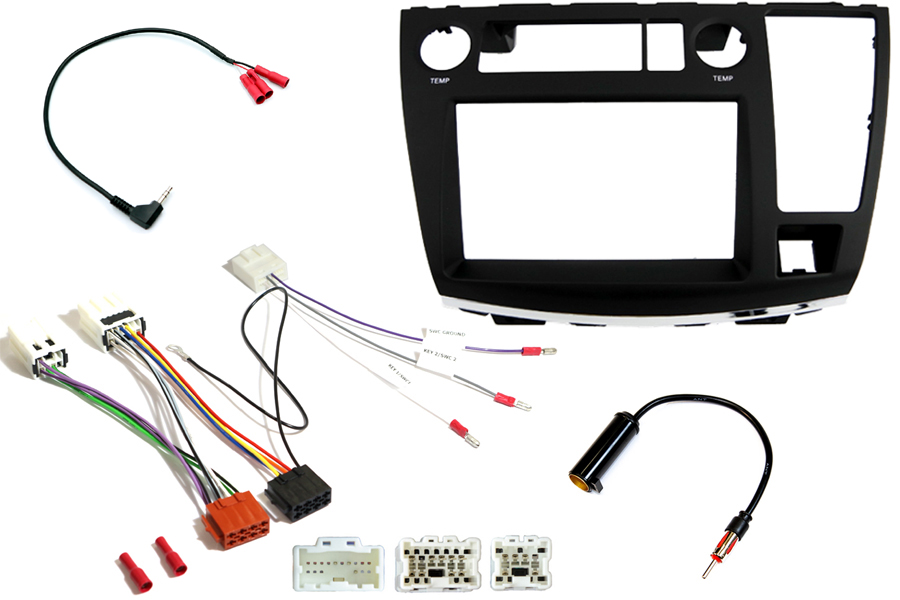 Nissan Elgrand E51 (BASIC AUDIO) Double DIN car stereo upgrade fitting kit (LOOSE WIRE)