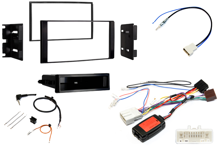 Nissan NV200 (2013 Onwards) Single/Double DIN car stereo upgrade fitting kit (MATT BLACK)