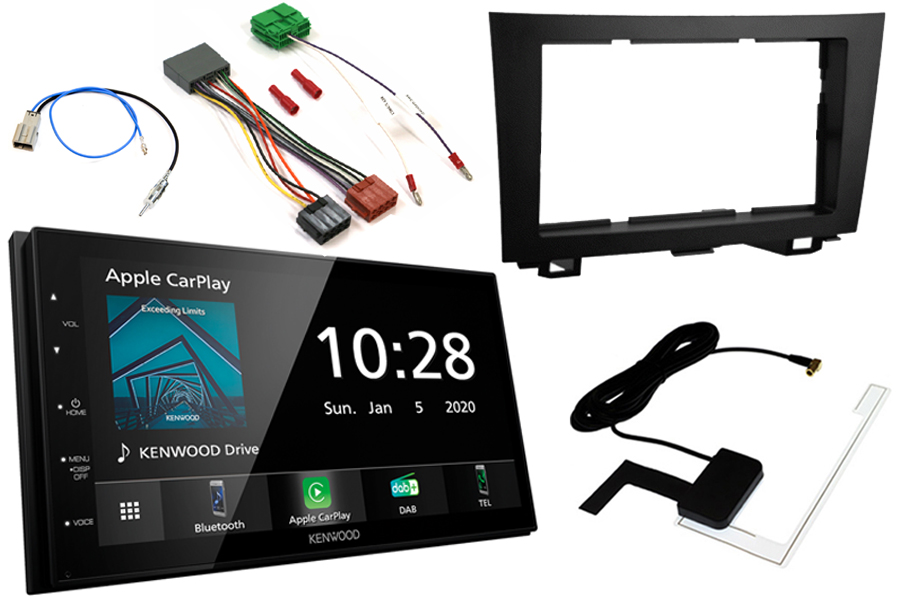 Honda CR-V (07-11) Double DIN kit WITH OEM NAV (Type2VNO) and Kenwood DMX5020DABS (Carplay/Android)