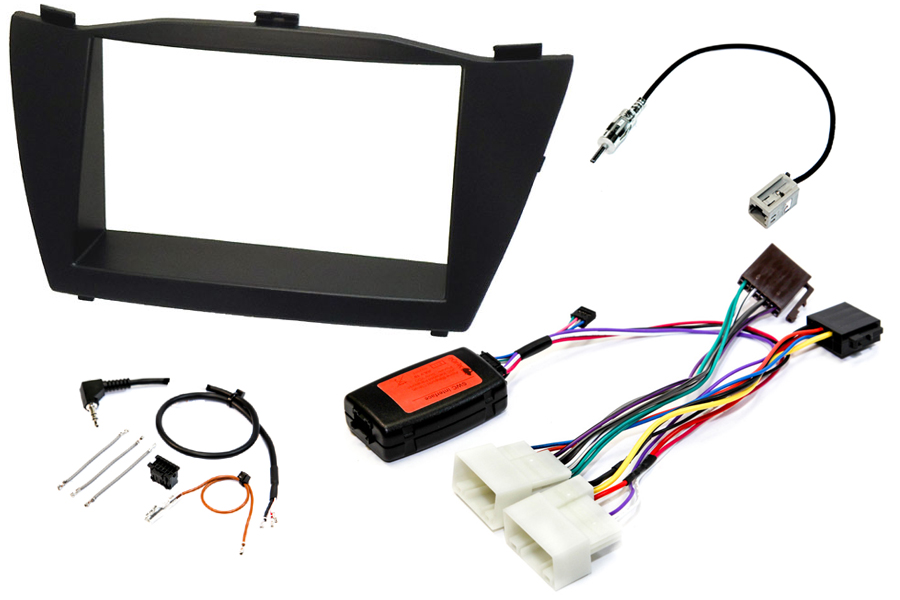 Hyundai IX35 (2010-2015) SE-MODELS car stereo upgrade fitting kit (BASIC AUDIO, STEERING CONTROLS)