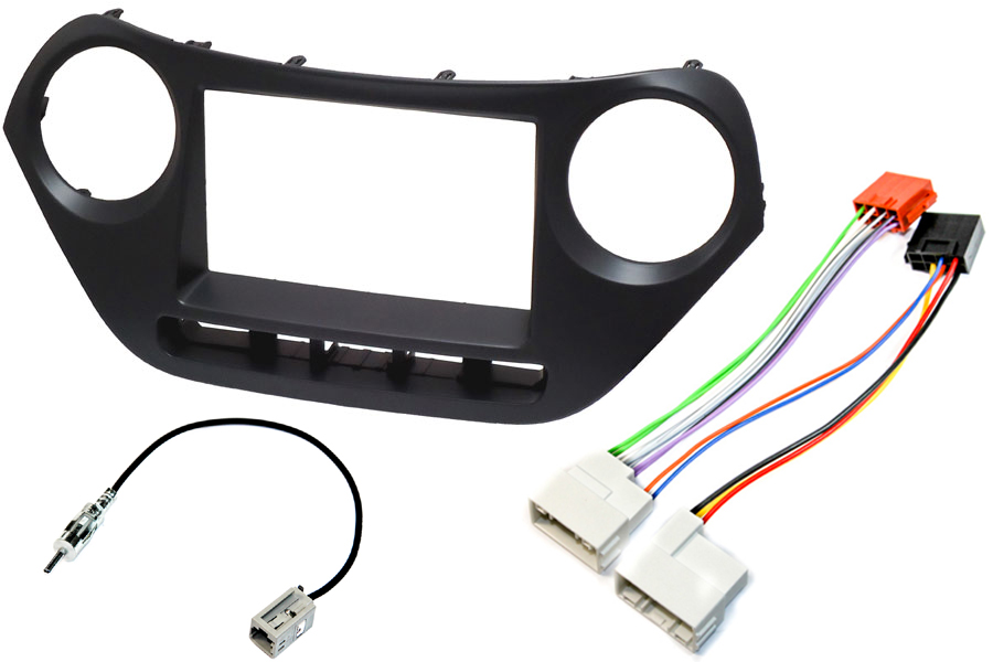 Hyundai I10 (2013 Onwards) Complete Double DIN stereo upgrade fitting kit WITHOUT STEERING CONTROLS