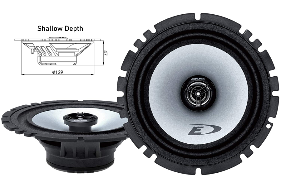"Alpine SXE-1725S 6"" (165mm) Coaxial 150 Watts 2-Way Speakers"