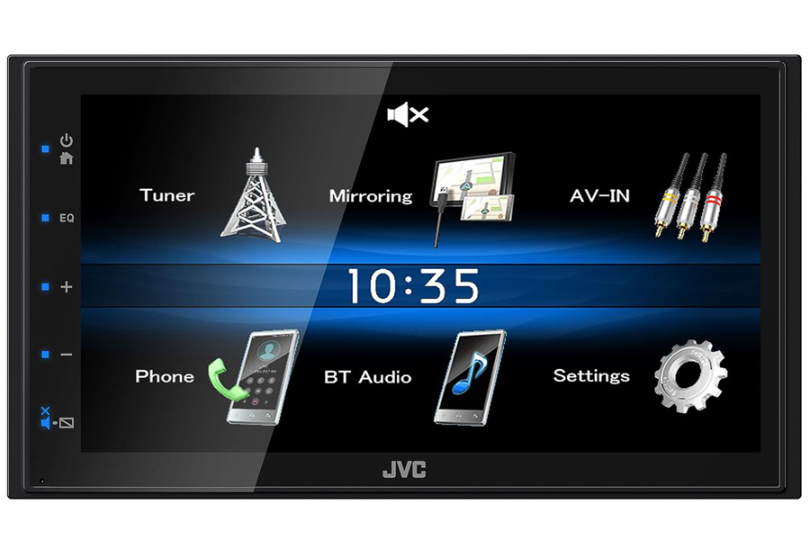 JVC KW-M25BT (Short Chassis) Double DIN head unit with Bluetooth, USB, wired Android mirroring