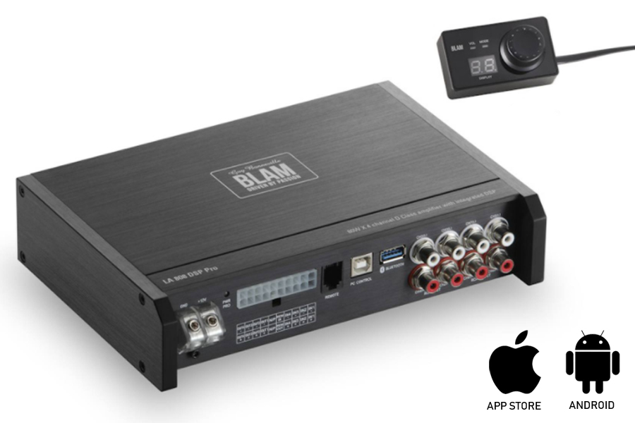 BLAM LIVE LA808 DSP PRO 4x75W Class D amplifier with integrated DSP