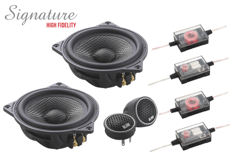 BLAM SIGNATURE High Fidelity 100mm (4 inch) 120W 2-Way component speaker system (for BMW/ Mercedes)