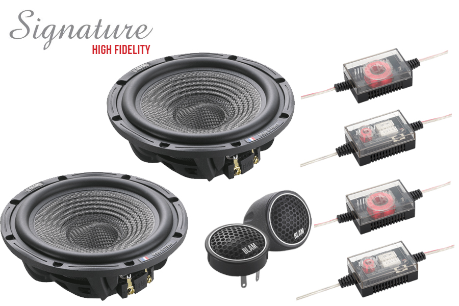 BLAM SIGNATURE 165N45+ High Fidelity 165mm (6.5 inch) SLIM 120W 2-way component speaker system