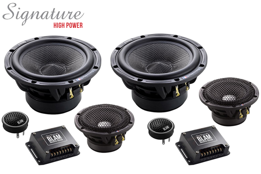 BLAM S 165.300 SIGNATURE High Power 165mm (6.5 inch) 250W 3-way component speaker system