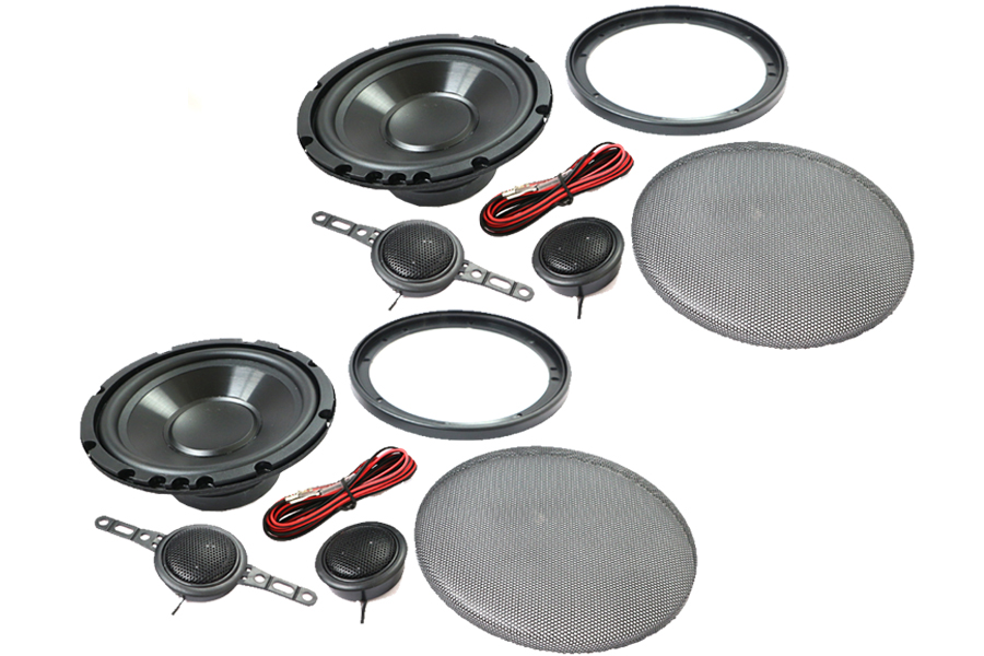 165mm (6.5 inch) 4ohm, 120W 2-Way speaker, tweeter and grill set
