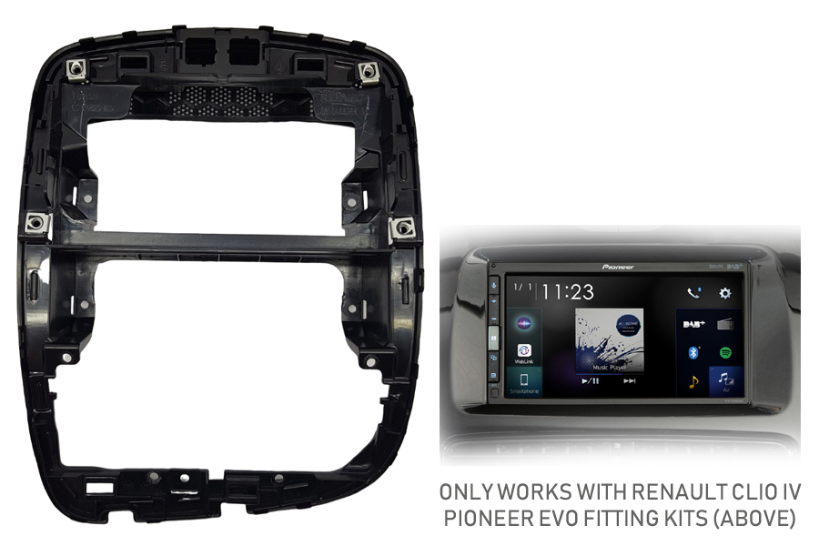 Renault Clio IV (2012 Onwards) facia adapter panel (FOR RENAULT CLIO EVO FITTING KITS ONLY)