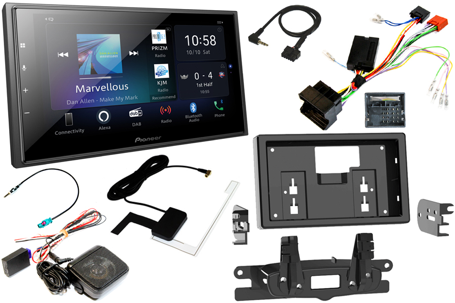 Mini Countryman/Paceman (2010-2016) fitting kit with PDC and Pioneer EVO head unit (Carplay/Android)