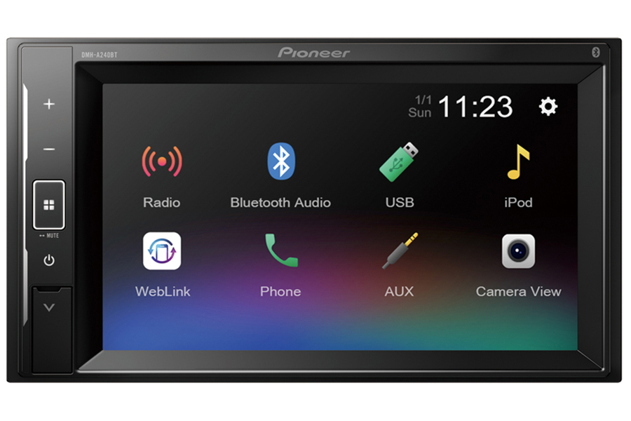 Pioneer DMH-A240BT Double DIN stereo head-unit with Bluetooth and Smartphone connectivity