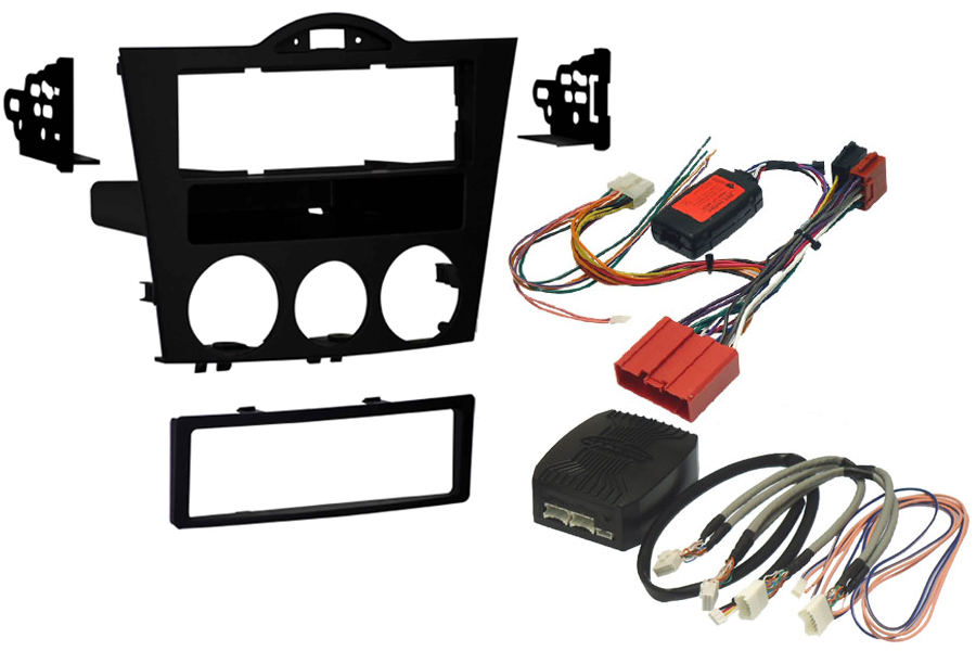 Mazda RX8 (2004-2008) Single DIN Complete Stereo upgrade fitting kit with Steering wheel controls