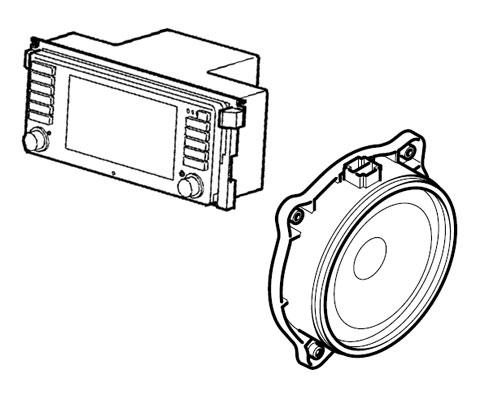 landrover range rover iii  l322  vogue original radio